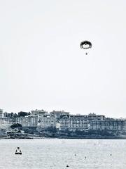 Lo de caer siempre bien se lo dejo a los paracaidistas. (Elena m.d. 12M views.) Tags: salou cataluña catalonia españa sea landscape momocromo bw 2019 nikon d5600 sigma sigma105