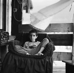 (Suharik moi) Tags: 120mm film mestia georgia 6х6 bw mamiya child boy analog