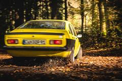 Drift! -  Opel C Kadett Coupé (Sebastian Bayer) Tags: sportwagen spritzer kadett laub blätter wald drift gelb auto dreck ckadett rallye opel herbst fahrzeug oldtimer coupé motorsport