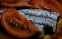 Macro mondays - Small sardines, tomato and olive oil (Jose Rahona) Tags: macromondays mainmeal macro mondays hmm tomato sardines oliveoil food