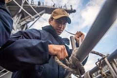 191123-N-HD110-1062 (U.S. Pacific Fleet) Tags: usnavy unitedstatesnavy ussharpersferry forgedbythesea sailors lsd49 amphibiousdocklandingship lsd harpersferryclass underway ussboxeramphibiousreadygroup arg us3rdfleet deployment tigercruise flaghoistexercise pacificocean