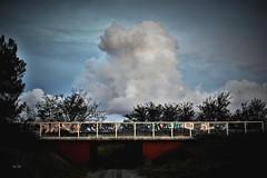 Sur les ponts II - Over the Bridge II (EmArt baudry) Tags: composition ciel bridge sky cloud colour nature nikon cumulus pont nuage couleur gard emart cumulonimbus occitanie skyporn emmanuellebaudry groupenuagesetciel