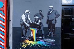 BLACK AND WHITE ONLY [NO COLOUR PERMITTED]-158194A (infomatique) Tags: dublin ireland streetart color rainbow streetsofdublin haroldscross williammurphy infomatique rainbowflag sony a7riv