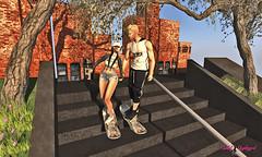 ☆ POST #1003: Diversión en pareja.   Couple fun. (Isabel Unplugged) Tags: sublimeposes lopbackdrop desing style fashion poses backdrop bento animation secondlife