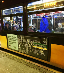 Bus Ad: We are all traffic. Share the road with care (Seattle Department of Transportation) Tags: seattle sdot transportation bus transit ad advertising night sharetheroad wearealltraffic safety