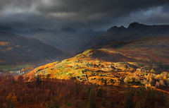 Light over Langdale (snowyturner) Tags: lakedistrict fells rocks mountains trees autumn fall light november langdale