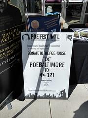The International Edgar Allan Poe Festival, October 5, 2019 (kimsworldofart) Tags: edgar allan poe festival baltimore maryland