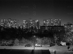Katowice, Poland. (wojszyca) Tags: fuji gsw680iii 6x8 120 mediumformat 65mm kodak tmax 400 400tmy2 hc110 epson v800 night longexposure city urban landscape socialistmodernism towerblock architecture katowice zawodzie