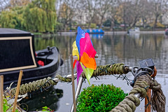 Windmill (Croydon Clicker) Tags: canal london nikon nikkor windmill toy boat rope barge trees plant littlevenice nikkoraf28105mmd
