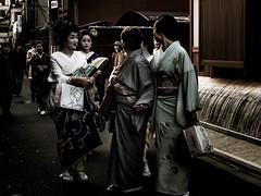 GEIKO talking with a SISYHO (sKamerameha) Tags: geiko geisha people kyoto street tradition human woman maturewoman return happyplanet asiafavorites