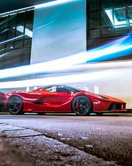 Ferrari LaFerrari (rolandkalviste) Tags: london londoncars cars car carphotography carspotting ferrari ferraris laferrari automotive auto nightphotography night uk hypercar supercar red long exposure longexposure roltz
