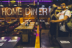 You Lookin At Me? (Creekside Photog) Tags: diner philly philadelphia man jacket street look glasses table ketchup