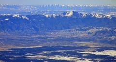 Rockies N of Colorado Springs (zeesstof) Tags: aerial aerialview businesstrip commercial commercialflight flight geo:lat=3929722927 geo:lon=10422335275 geotagged houstontodenver iahtoden triptodenver unitedairlines viewfromwindow zeesstof