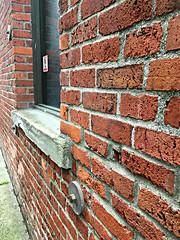 Brick wall (Seattle Department of Transportation) Tags: seattle sdot transportation texture bricks brick window ledge