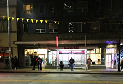 Rapid Ride Bus Stop on 3rd Ave - waiting at night (Seattle Department of Transportation) Tags: seattle sdot transportation bus stop waiting people night 3rd ave rapidride sylviaodomsplace bunting