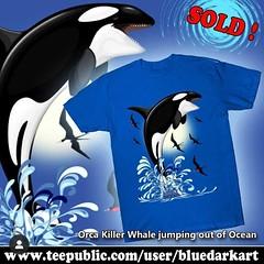 SOLD again! Thank You! #Orca #Killer #Whale #jumping out of #Ocean #tshirts 🐬 #Design © #BluedarkArt 👉 http://bit.ly/2NPY104 🐬 (BluedarkArt) Tags: orca jumping sealife cooltshirt originaltshirt tshirts tapestries design killerwhale uniquetshirt freedom happiness designbybluedarkart ocean xmasgiftideas stickers killer oceanlovers sale oceanlife mugs sealovers bluedarkart shop whale blue orcalovers giftideas save fashion