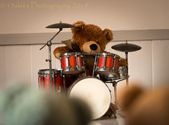 Rocky Is Rockin' (HTBT) (13skies) Tags: drums reddrums rocky kit show playing watching entertain perform teddy concert beat drumming red impressed teddybears happyteddybeartuesday teddybeartuesday