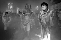 The Mood Of The 9 Emperor - Photo 23 (Mio Cade) Tags: overtime 9emperor nineemperor vegetarianfestival photojournalism phuket thailand asia evening street firecracker smoke fire devotee men hot risk sedan reportage documentary night