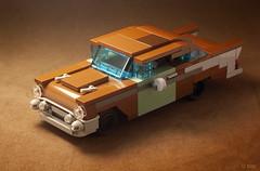 The Junkyard: '57 Chevy Bel Air (_Tiler) Tags: lego car vehicle chevrolet 57chevy belair