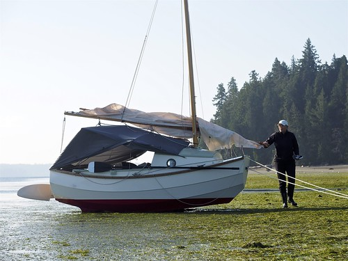 LUNA, at Shark Spit after a very windy night on anchor