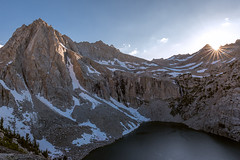 Pensive View (Bob Bowman Photography) Tags: mountains view climb summit highcountry sierra highsierra lake sunset sun snow backpacking granite alpine california easternsierra sunstar waterfall nikon ridge peaks sierranevada inyo