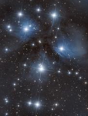 Messier 45 - The Pleiades (Antoine Grelin) Tags: pleiades m45 messier 45 astrophotography galactic hunter nevada orion asi1600mm zwo stars cluster night astrometrydotnet:id=nova3765535 astrometrydotnet:status=solved