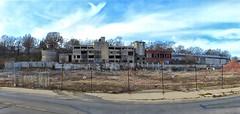 Building being demolished (sharon'soutlook) Tags: building demolishing destruction hamiltonoh denolished deconstructing panorama pano