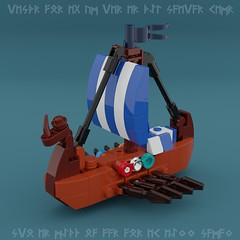 Drakkar (Space Glove) Tags: lego ldd mecabricks viking ship
