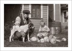 Fashion 0528-07 (Steve Given) Tags: socialhistory familyhistory fashion pet dog grandfather grandson