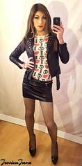 Leather & Fishnets (jessicajane9) Tags: tg crossdresser travesti femme tights crossdressing trans xdress cd feminised transvestite femboi leather transgender crossdress tgurl feminization tv trap crossdressed tgirl