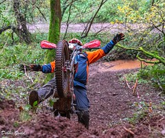 Neil Westcott Memorial. (debbiegould97) Tags: neilwestcottmemorial longdistancetrials lightweight bikes exmoornationalpark crash mud hill woodland riding autumn people riders sport outdoor
