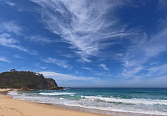 Serious Cirrus (OzzRod) Tags: gopro hero7black bigsky clouds cirrus sea beach waves headland bushland barragga baynsw far south coast