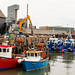 Boats at the quayside in Whitstable Harbour