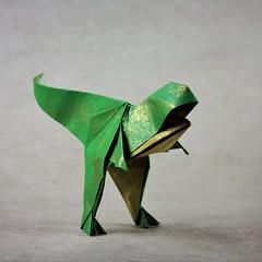 T-Rex - Roman Diaz & Joseph Wu (pierreyvesgallard) Tags: origami trex tyrannosaur tyrannosaurus rex roman diaz jospeh wu paper papercraft geometric animal cute