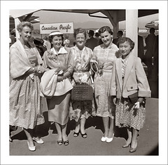 Fashion 0525-38 (Steve Given) Tags: socialhistory familyhistory fashion ladies women group airport canadianpacific