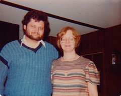 Michael and Dianne Jean Lail 1981 (Michael Vance1) Tags: woman wife sister twin redhead daughter family girl granddaughter grandmother oklahoma mother love man boy husband writer journalist cartoonist