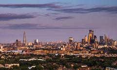 London Skyline Sunrise (E_W_Photo) Tags: london skyline sunrise novotelcanarywharf cityscape thegherkin thepinnacle thecheesegrater the shard londoneye bt tower riverthames canon 80d sigma 1750mm leefilters