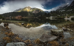 Popradske Pleso in Tatra Mountains (tkjpics) Tags: sony alpha a7r3 a7riii a7 landscape landscapes nature tatra tatry lakes panorama panoramic water wide angle mountains mountainscape mirrorless morning 15mm laowa glacial lake