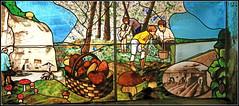Vitrail dans la champignonnière du Saut aux loups, Montsoreau, Maine-et-Loire, France (claude lina) Tags: claudelina france maineetloire montsoreau champignonnière champignon champignonnièredusautauxloups vitraux