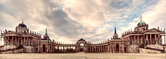 The Communs of the New Palace, Potsdam, Sanssouci Park (Renate R) Tags: potsdam communs castle palace newpalace sanssoucipark neuespalais innamoramento