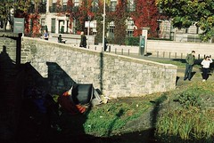 Grand Canal, Mespil Road, Dublin (Mark Carmody) Tags: analog analoguephotography family film filmisnotdead filmphotography filmisalive svema colour 35mm canon canona1 carlzeissjena tessar 50mm carlzeissjenatessar50mmf28 dublin ireland grand canal mespil road homeless homelessness autumn water walk leaf change