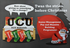 Twas the strike before Christmas (dullhunk) Tags: ucu uuk ucea strike industrialaction uss pensions fairpay xmas christmas