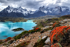 Condor Lookout Patagonia (Doreen Bequary) Tags: patagonia torresdelpaine horn lakepehoe glacierlake glacierwater d850 trail alltrails chile lake clouds hiking trails horns painegrande cuernosdelpaine condorlookout hotelpehoe