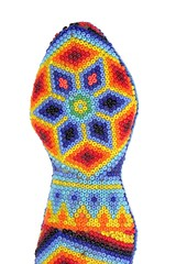 Beaded Snake by the Huichol Indigenous Peoples of Northern Mexico-From the collections of Ardell Tharaldson. (Independent Picture Service) Tags: americanindian animal animals artarts artwork bead beadedartifact beading beads beadwork beeswax belief beliefs brightcolors closeup colorful craft crafted crafts culturalartifact culture custom customs design detail details embroidery ethniccustoms fulllength geometricdesigns glassseedbead glassseedbeads head headofasnake huicholindians huicholpeople indigenouspeoples isolatedonwhite jalisco mexico mexican nativeamerican nativeamericans nayarit nobody northamerica northamerican northernmexico oneobject serpent serpents snake snakes studioshot skill skills traditionalcrafts tradition traditional traditions visualarts wildlife wixaritari minneapolis minnesota unitedstates ardelltharaldson