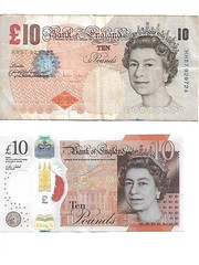 The old and the new (*SHERWOOD*) Tags: uk banknotes