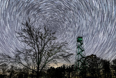 Star trails over Brown County State Park Fire Tower (HubbleColor {Zolt}) Tags: night sky firetower startrails timelapse browncountystatepark