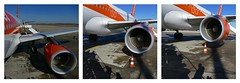 Immediate boarding (Le.Patou) Tags: challenge crazytuesday transport fz1000 triptyque triptych plane airplane orange airport boarding platform ramp engine wing iphone shadow montage