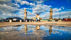 Beautiful Paris (jeromedelaunay_paris) Tags: paris parisjetaime parismonamour parisianlife france europe sky clouds colors beautiful lands city cityscape cites capital capitale miror pont bridge alexandre3 alexandreiii