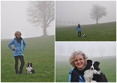 Unterwegs im Nebel (Uli He - Fotofee) Tags: ulrike ulrikehe uli ulihe ulrikehergert hergert nikon nikond90 fotofee weinberg hünfeld naturschutzgebiet nebel november herbst grau grauingrau