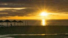 Sunrise, Lever du soleil, Torremolinos, Costa Del Sol, Espagne, Spain - 2840 (rivai56) Tags: plage et lever du soleil beach sunrise leverdusoleil torremolinos costadelsol espagne spain 2840 parasol sand sable a6000 sony flickrtravelaward